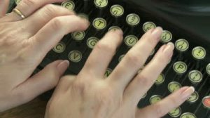 typing hands
