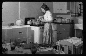 woman at stove