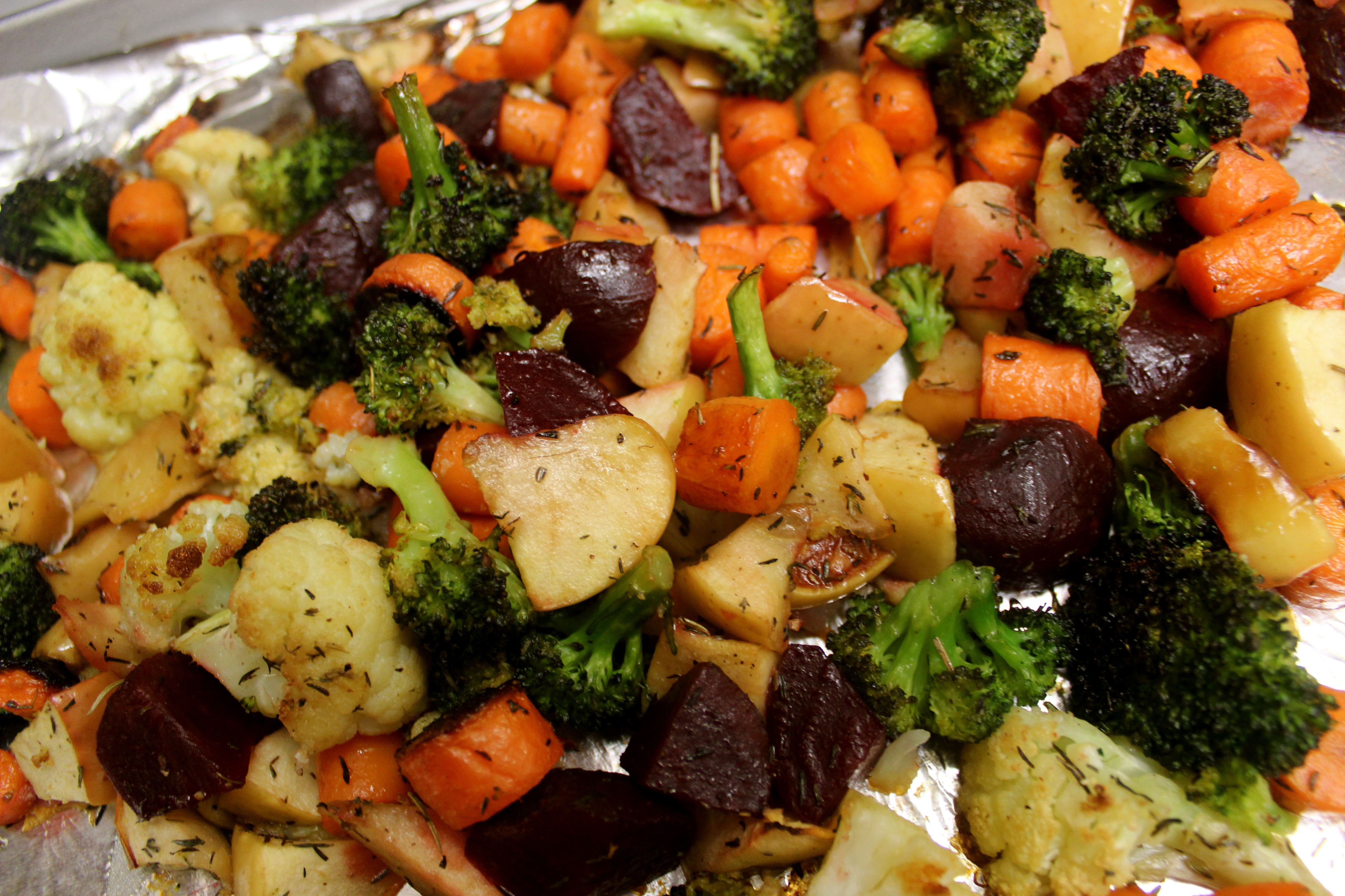 Roasted Winter Root Vegetables Recipe Dishmaps
